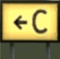 The sign as it appears in X-Plane