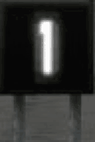 The sign as it appears in X‑Plane