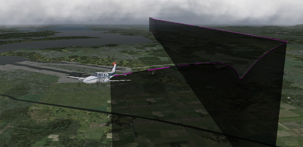 Visualizing a 3-D path in X-Plane