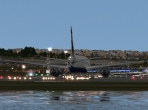 An X-Plane 10 airport on the water