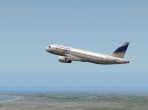 QPAC's A320 model soaring over Southern California
