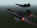 The X-Plane 10 SR-71 model side-by-side with the one from X-Plane 9