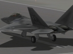 X-Plane 10's F-22 sitting on the runway