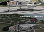 The X-Plane 10 F-4 model compared with the one from X-Plane 9