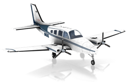 The Beechcraft Baron B58 in X-Plane 10 Mobile