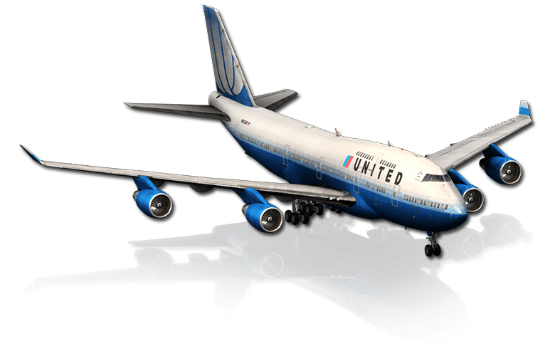 The Boeing 747 airliner featured in X-Plane 10 Mobile for iPhone & iPad
