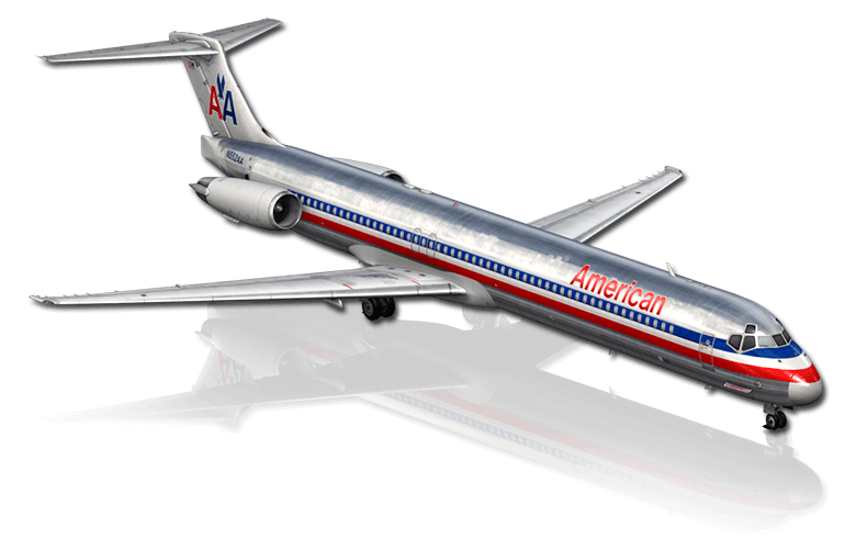The MD-80 airliner featured in X-Plane 10 Mobile for iPhone & iPad
