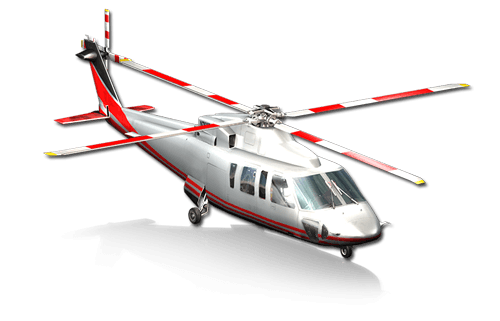 The Sikorsky S76 helicopter in X-Plane 10 Mobile