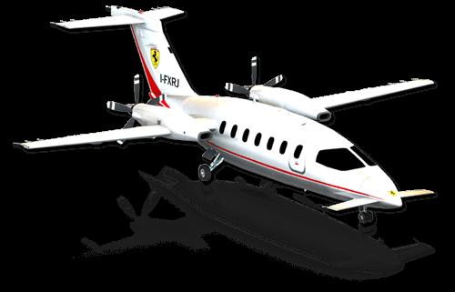 The Piaggio Avanti in X-Plane 10 Mobile