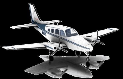 The Beechcraft Baron B58 in X-Plane 10 Mobile