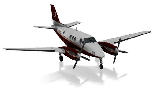 The Beechcraft King Air C90B in X-Plane 10 Mobile