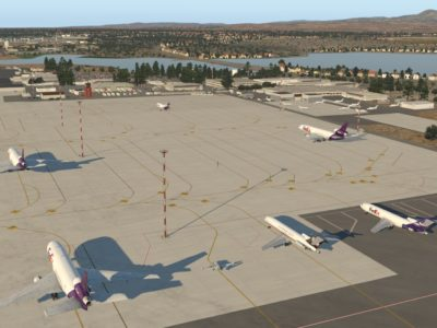Airliners at LCLK airport in X-Plane 11.55